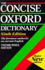 The Concise Oxford Dictionary of Current English: Thumb-indexed Ed